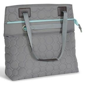 thirty-one Vary You Quilted Dot Versatile Tote